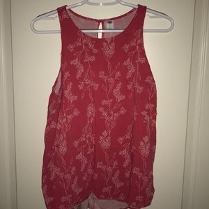 Coral floral old navy top, large